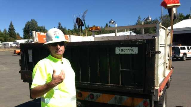 Caltrans worker saved by CHP officer's quick actions