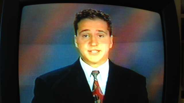 6. My first on-air job was as a weekend weather anchor in Twin Falls, Idaho. This is a screen grab from my first time ever on an anchor desk.