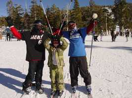 25. I love to hit the slopes of Tahoe with my boys.