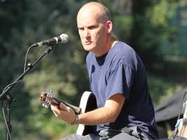Ian MacKaye of The Evens dishes out a dose of minimalist punk for the crowd at Hardly Strictly Bluegrass in San Francisco's Golden Gate Park on Friday, Oct. 4.