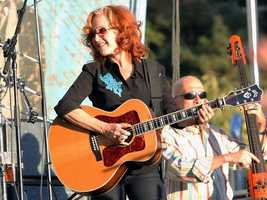 Bonnie Raitt performs at Hardly Strictly Bluegrass in San Francisco's Golden Gate Park on Friday, Oct. 4. The 13th annual event, which continues through Sunday, Oct. 6, drew thousands of music fans.