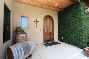 Wine and vineyards are a constant theme throughout the home.