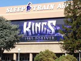 A new Kings banner was also put up at the Kings official home -- Sleep Train Arena -- on Friday.