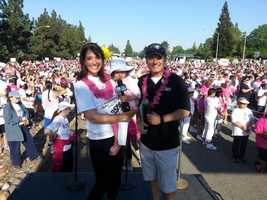 You may know that I work to promote breast cancer education, screenings and research, but you may not know that I have been doing this work for close to two decades. This photo is from the 2013 Sacramento Komen Race for the Cure, with former KCRA 3 anchor Walt Gray and my toddler. I am pretty confident that we will have cures for some forms of the disease by the time she's old enough to understand breast cancer.