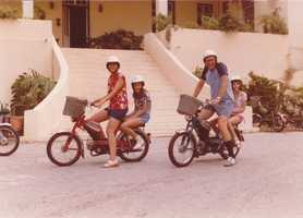 Both of my parents are marine biologists, and their research took us all over the world as I was growing up. This photo is from Bermuda. I was in the sixth grade (and judging by my posture here, clearly had not yet discovered yoga).