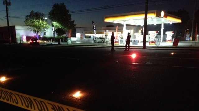 Authorities investigate Arden Way crash.