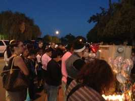 Community members and loved ones Wednesday evening held a vigil for almost an entire family killed in a violent Lodi crash one day ago.