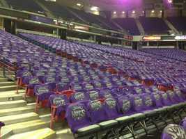 Fans attending Wednesday's home opener will get a Sacramento Kings T-shirt.