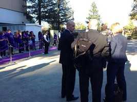 Team President Chris Granger outside Sleep Train Arena before Wednesday's Kings game.