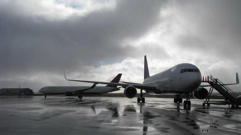 Diverted plane