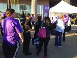 Kings fans outside Sleep Train Arena before the team's home opener Wednesday. (Oct. 30, 2013)