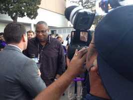 Sacramento native Dusty Baker arrives at Sleep Train Arena. (Oct. 30, 2013)