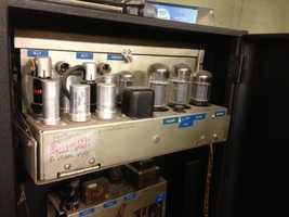 The old theater still has tube-driven sound as part of its historical equipment.