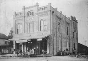 Here's a look back at the Independent Order of Odd Fellow (IOOF) building built in 1893 after the fire of 1892. The ground floor was leased to the proprietor of a general mercantile store.