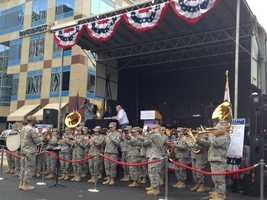 The Army 40th Infantry Division Band performs at the same parade (Nov. 11, 2013).