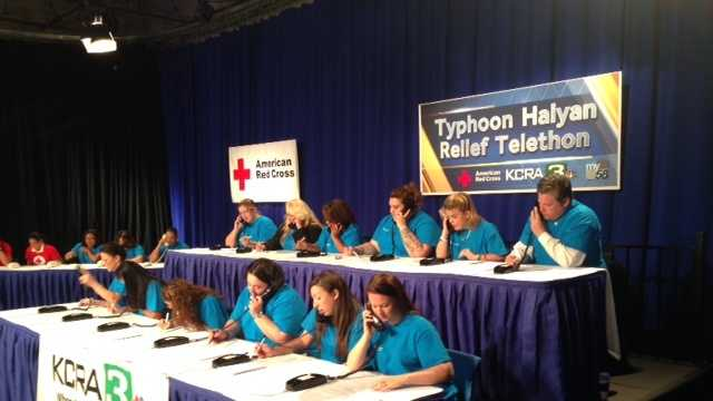 See photos from Tuesday's KCRA 3-American Red Cross Typhoon Haiyan relief telethon.
