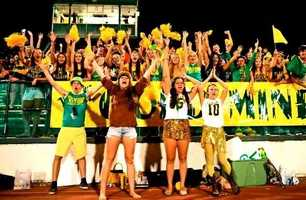 #3 - The Placer Hillmen student section shows spirit for their football team