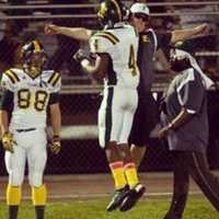 #28 - Franklin's football coach is not afraid to reward his Yellowjackets with a little celebration.