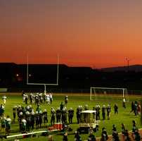 #33 - A beautiful sunset was the backdrop at a Dixon Rams football game.