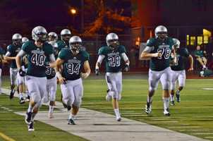 #34 - Granite Bay's football team is full of plenty of size and strength as they take the field.