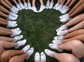 #26 - The Argonaut cheerleaders formed a heart with their bright white shoes.