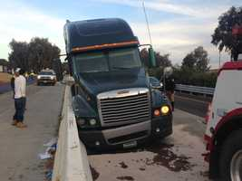 Highway 99 near Galt is limited to one lane following a big-rig crash and fuel spill early Tuesday morning.