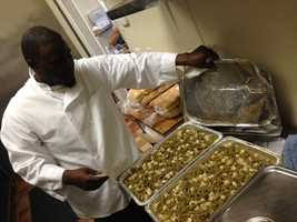 Ray Thurmon, owner of Big Ray's Bull Ribs, said he promised God that if could open a restaurant, he would give away free meals on Thanksgiving.