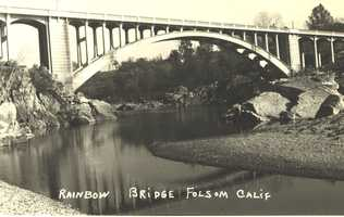 The Rainbow Bridge was the only means of crossing the American River in Folsom until the Lake Natomas Crossing was built in 1999.