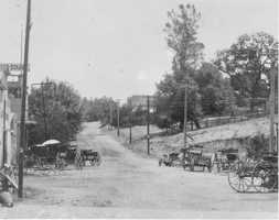 In 1908, Sutter Street was just a dirt road with very few buildings.