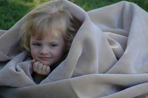 You can wrap yourself up in a blanket to keep warm.
