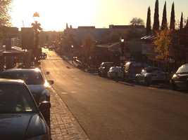 Sutter Street, located along the American River, is an attraction for people in the area to eat and shop.