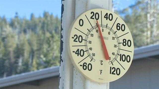 Cold temperatures Northern California