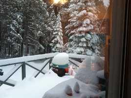 Snow at 4,000 feet. (Dec. 7, 2013)