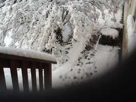 A photo taken of the snowfall in Jamestown, Calif. (Dec. 7, 2013)