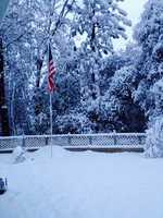 Snow in Diamond Springs. (Dec. 7, 2013)