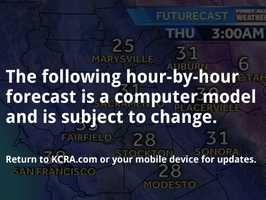 See how much longer the freezing weather will continue in Northern California. Time it out hour by hour with FutureCast.