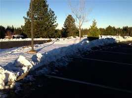 School in Nevada City and Grass Valley cancelled school because of all the ice and snow.