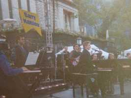 24. I'm a Fanilow! I have seen Barry Manilow in concert three times. Fuzzy pic, but this was at a morning broadcast in New York -- the closest I've ever been to him.