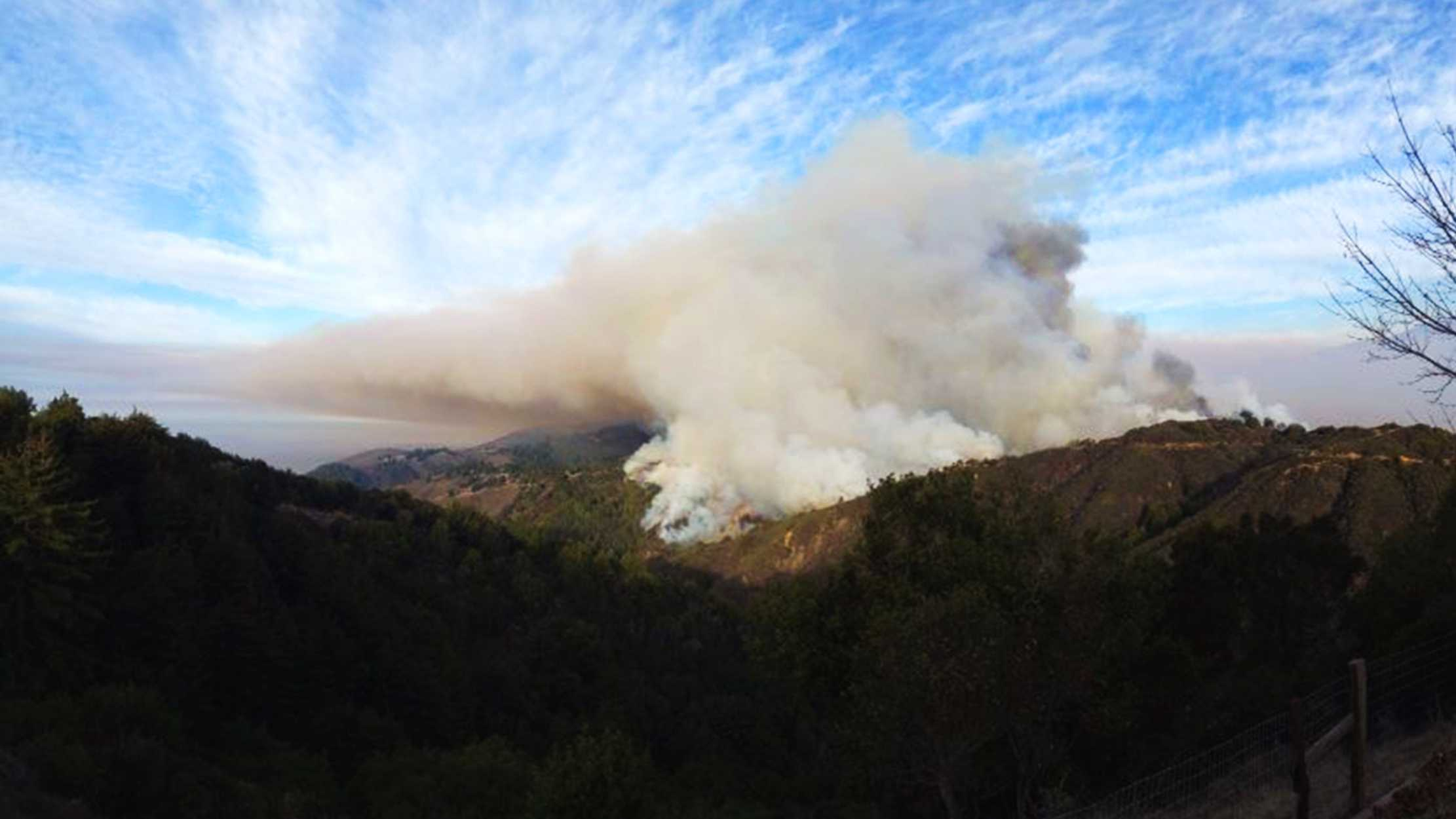 Big Sur Monday fire