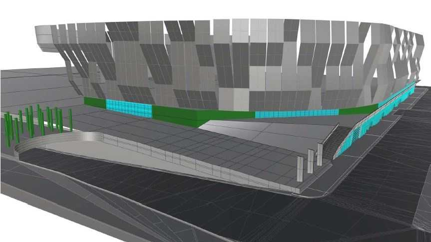 Arena developers released this drawing of the project for a recent city planning commission meeting.