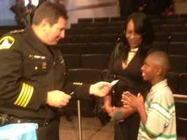 Sheriff Scott Jones gives Malik his cellphone number (Dec. 18, 2013).