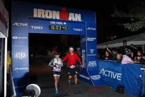 KCRA 3's Deirdre Fitzpatrick and her husband crossed the finish line of the 2013 Ironman Tahoe together.