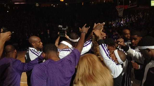 The Sacramento Kings huddled before the 2013 home opener at the Sleep Train Arena with the hopes of putting the off-season turmoil behind them.
