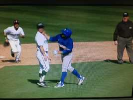 KCRA 3 photographer Paul Westbrook captured video of the punch that led to a bench-clearing brawl during a baseball game between Sacramento State and UC Riverside.