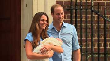 Nice: Prince George, the son of Prince William and Catherine, the Duchess of Cambridge.