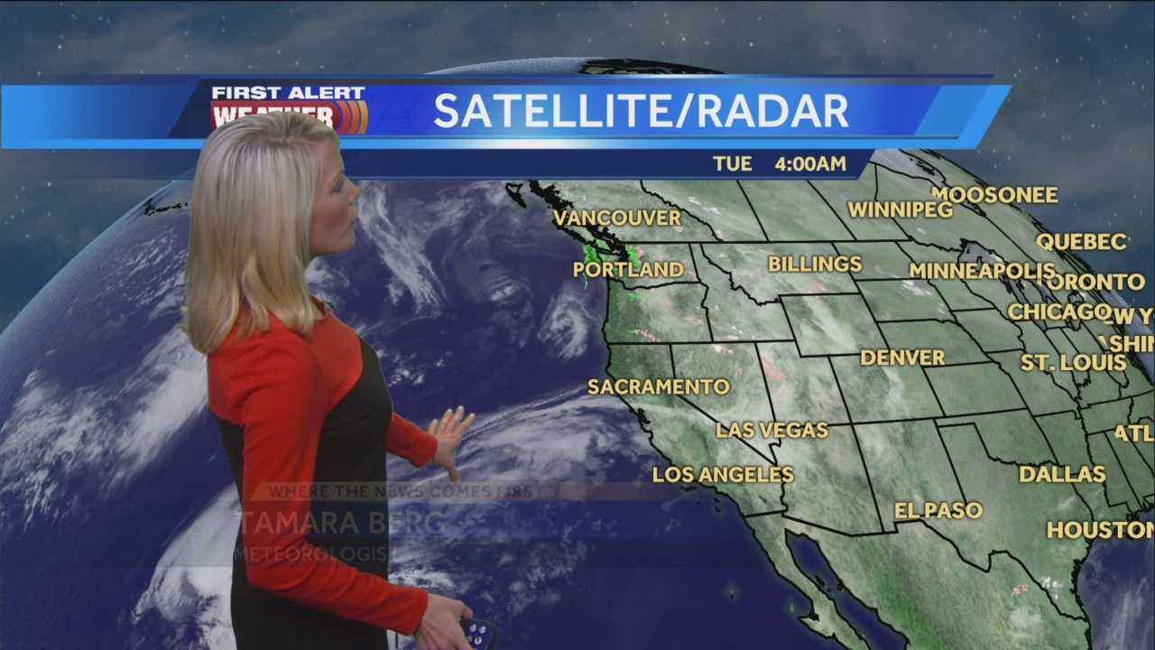 Cloudy skies linger. Tamara details how long the clouds will last and the changes ahead this week.