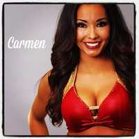 Meet Carmen, and go here to see more photos of the 49ers' Gold Rush cheerleaders.