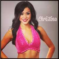 Meet Christina, and go here to see more photosof the 49ers' Gold Rush cheerleaders.