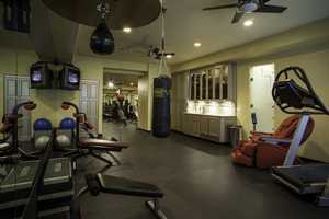 You can get quite the workout inside this 1,200-square-foot commercial quality gym.