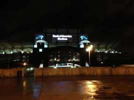 Bank of America Stadium in Charlotte, home to the Carolina Panthers.